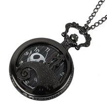 couple pocket watch Christmas Jack Skellington Tim Movie Theme Watches Fashion Quartz Pocket Watch Vintage Necklace