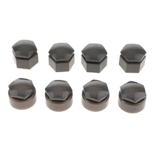 20 Set 22mm Car Wheel Tire Nut Lug Dust Covers Cap Protector Hub Screw Gray Auto Replacement Parts
