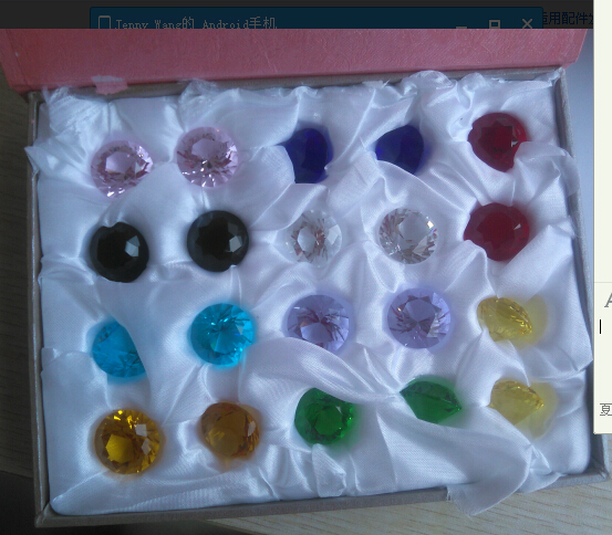 20pcs/set 20mm K9 crystal colored diamond Paperweights Wedding Crystal Cut Glass Home Decor Gifts