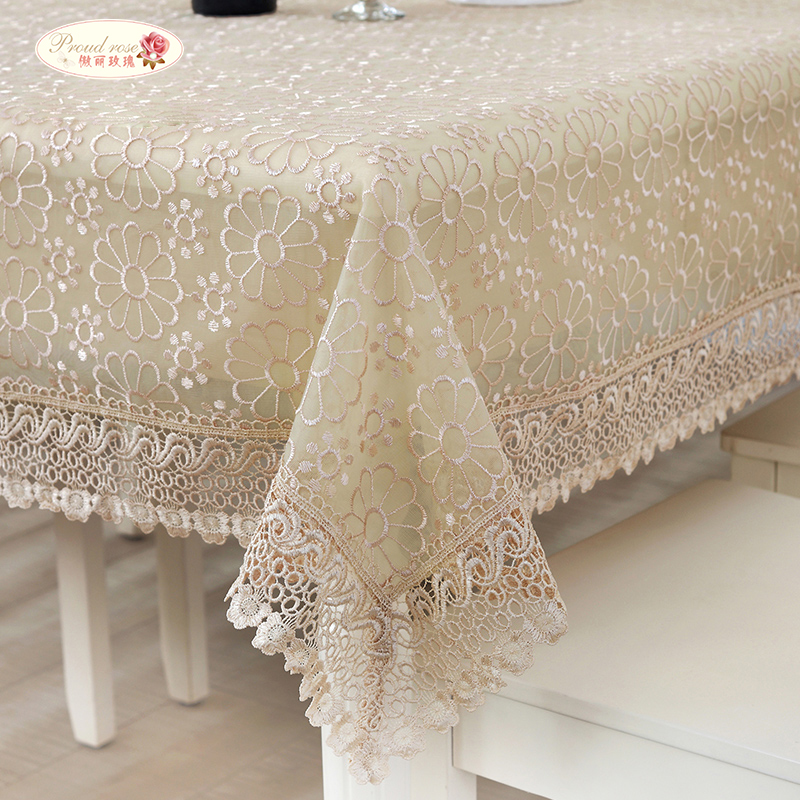 Aliexpress.com : Buy Proud Rose Pastoral Lace Tablecloths Transparent Table  Cloth Rectangular Embroidered Round Table Cloth Wedding Decoration From  Reliable ...
