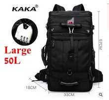 KAKA 40L 50L Travel Backpack Men military Oxford Travel Backpacks Multi Function Laptop Camouflage Travel Bag Backpack For Men