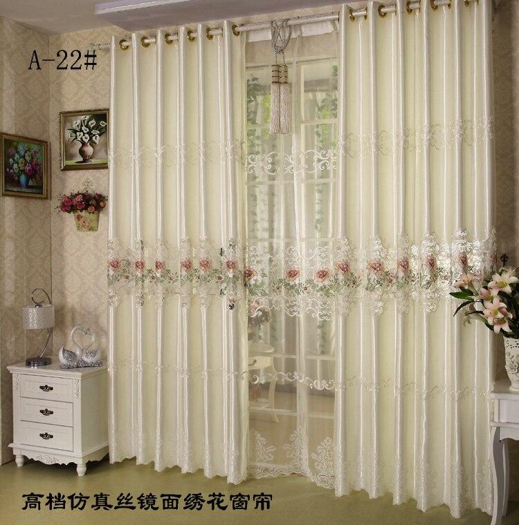 Superior ... European Style Luxury Silk Curtain Fabric Faux Silk Curtains Panels  Faux Silk Drapes For Living ...