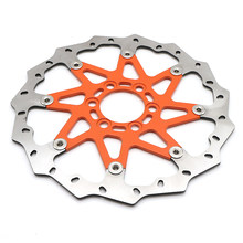 Motor Rem Depan Disc Rotor untuk KTM 125/200/390 ABS Duke 2013 2014 Orange(China)