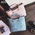 Aolen Bolsa da Mulher 2016 Sacos Crossbody Para Mulheres Brand New bolsa de Ombro Balde De Couro Bolsas de Luxo Conjunto de Mão de Embreagem 2015