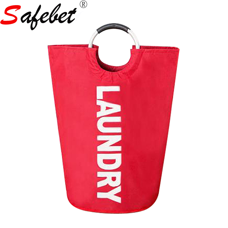 63*37CM Large Oxford Laundry Bag Kids Baby Dirty Clothes Toys <font><b>Storage</b></font> <font><b>Basket</b></font> Round Handle Hamper Folding Washing Organizer