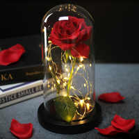 Nouveau LED Rose bête batterie blanc fleur chaîne lampe romantique anniversaire Festival fille mère cadeau décoration de la maison livraison gratuite