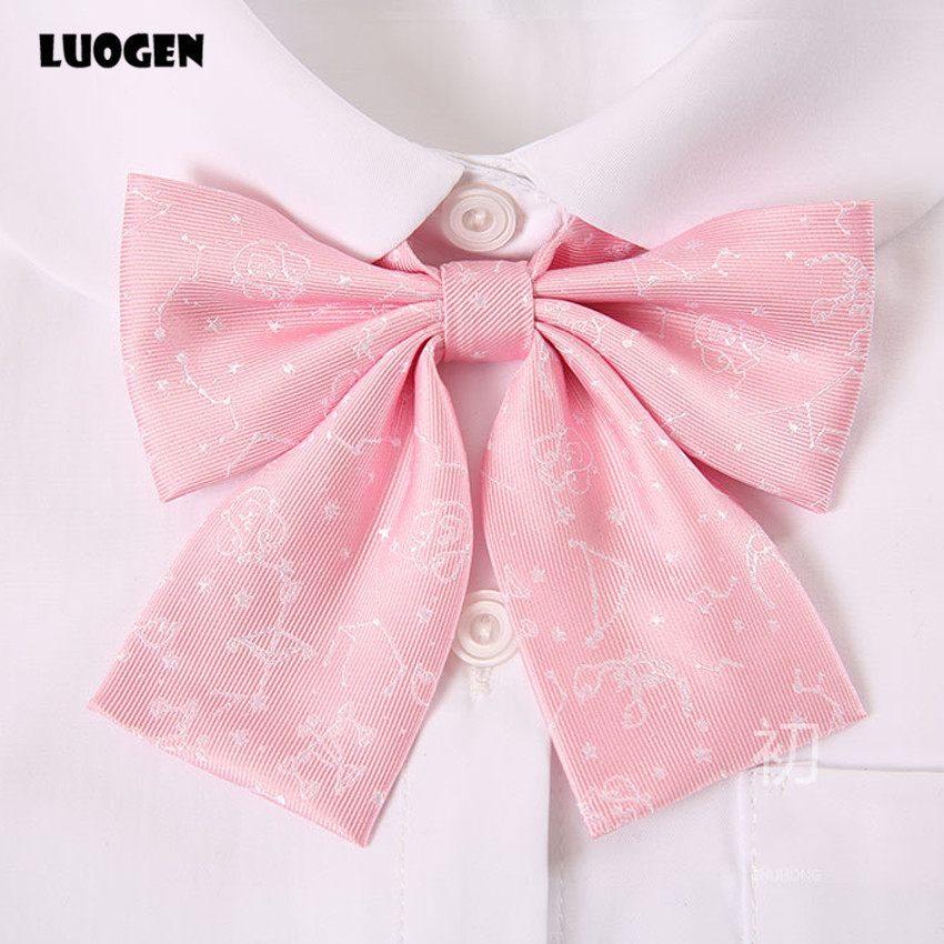 Kawaii Constellation Japanese School Uniform Girl Bow Tie 2018 Women Gravata Borboleta Bowtie Cute Bowknot Cravat Neck Ties