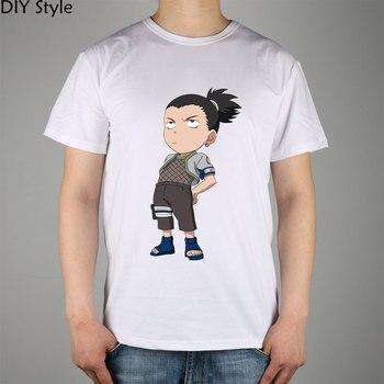 Naruto Nara Shikamaru 3 футболки с короткими рукавами высокого качества Модная брендовая мужская футболка