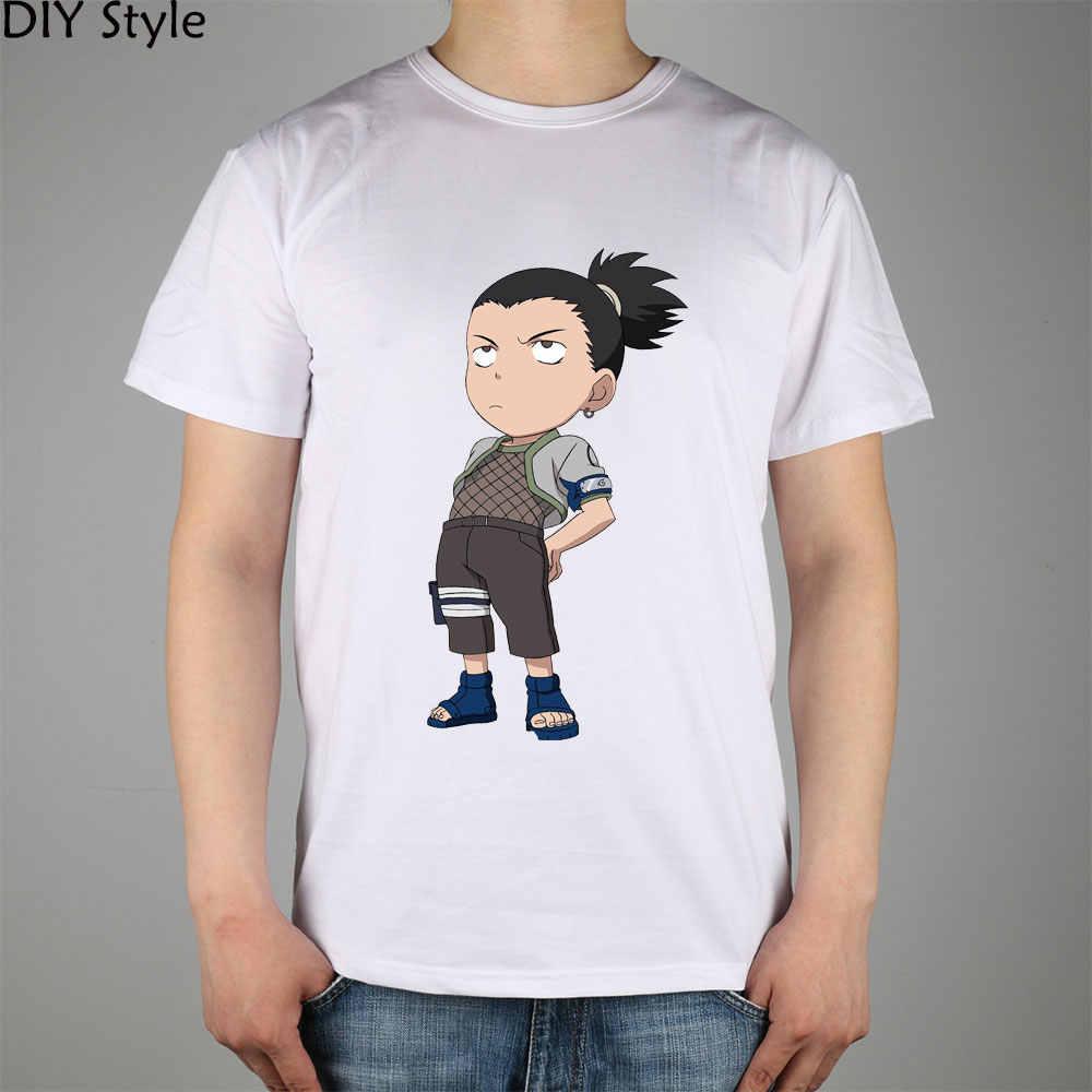 Naruto Nara Shikamaru 3 t-shirty z krótkim rękawem wysokiej jakości moda marka t shirt mężczyźni