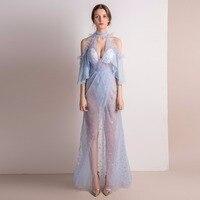 2018 Для женщин платья Sexy See Through Элегантный халат Вечеринка клуб дамы Винтаж сетчатые пляжные Boho Лолита с открытыми плечами платье