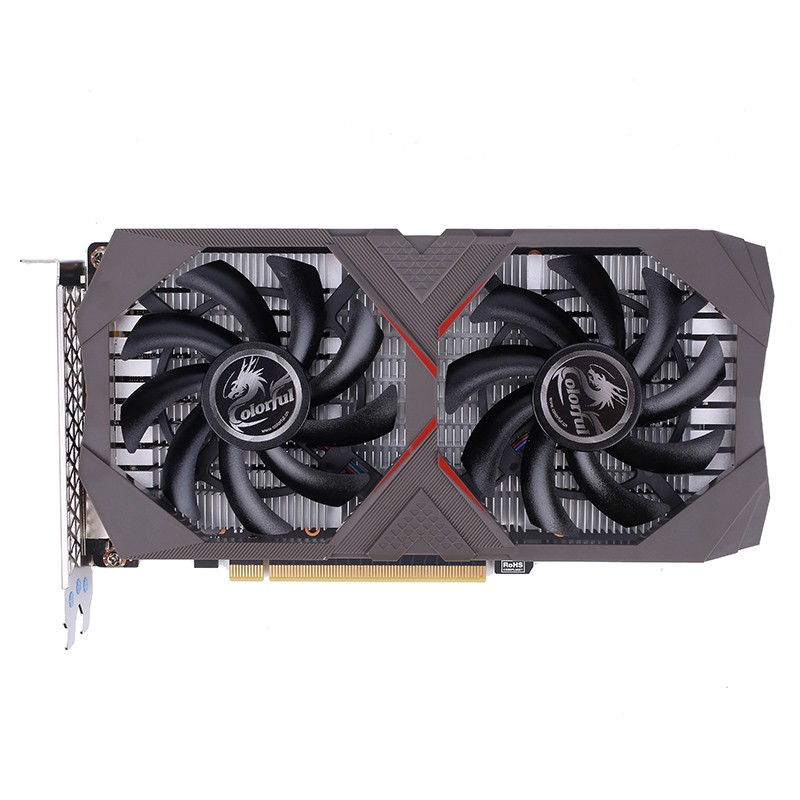 Coloré GeForce GTX 1650 e-sports 4G carte graphique GDDR5 NVIDIA PCI-E3.0 DP + HDMI + DVI 128Bit 6Pin carte vidéo pour PC Gaming