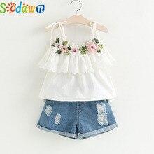 Sodawn Fashion Girls Clothing Set 2019 Summer Baby Girls Clothes White