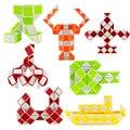 Langosta de La Serpiente Forma Tanque Tablero Mágico Divertido Puzzle Cube 72 Segmento Magico Educativo Del Rompecabezas de Inteligencia Juguetes de Ejercicio Regalo 70B117