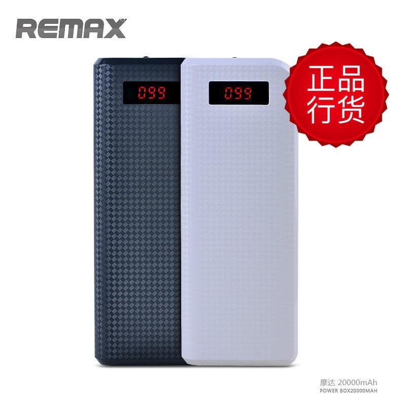 imágenes para REMAX Dual USB 30000 mAh 20000 mAh 10000 mAh Banco Portable de Batería Externa Del Teléfono Móvil de Carga De Luz LED LCD cargador