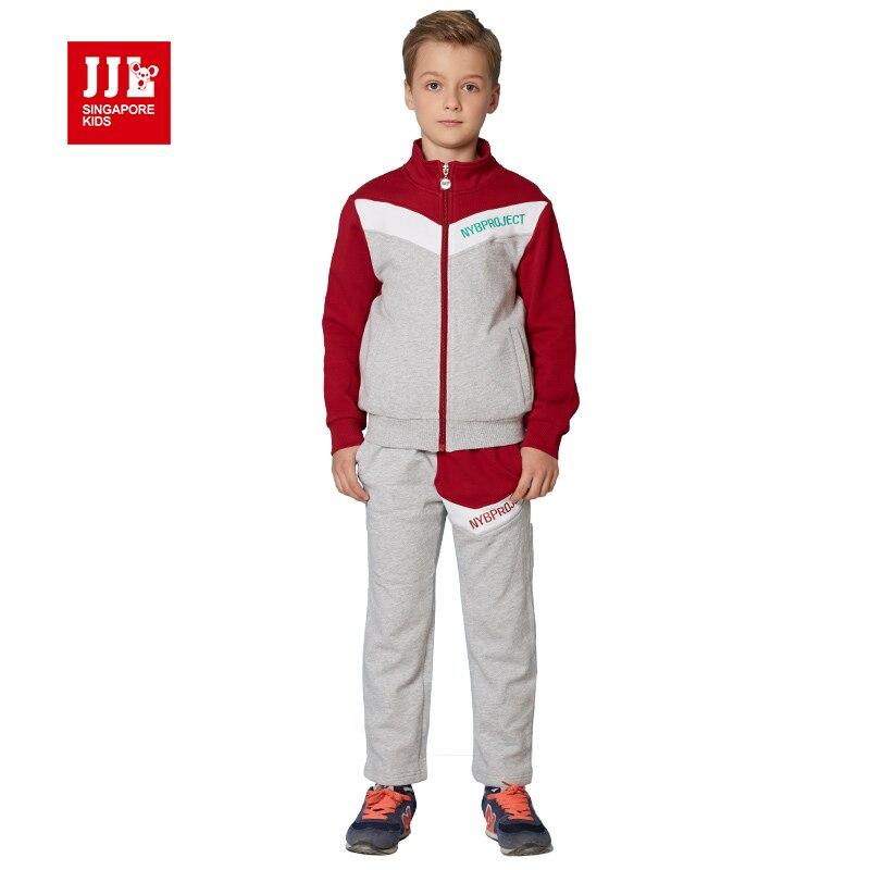 jjlkids spring boys suit jacket+trackpants children suits autumn kids clothes boys outfits size 6-15t children clothing brand