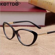 KOTTDO Ретро оправа для очков в стиле кошачьи глаза оптические очки с диоптриями Для мужчин Оправы для очков, прижимная планка Oculos De Grau Feminino Armacao