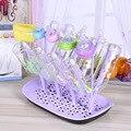 Botella de bebé de secado Rack 4 colores bebé alimentación botellas de limpieza secado Rack de almacenamiento de pezón de chupete de bebé alimentación sostenedor de taza
