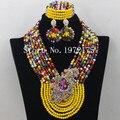 Multicolor Conjunto de Jóias de Casamento Africano Conjuntos de Jóias De Noiva Indiana A002551 Noivas Conjunto de Jóias Presente Frete Grátis