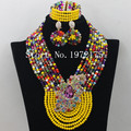 Multicolor Wedding African Jewelry Sets Indian Bridal Jewelry Set Brides Gift Jewelry Set Free Shipping A002551