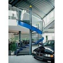 Купить с кэшбэком Modern  single stringer staircase, mono stringer wood staircase with glass railing