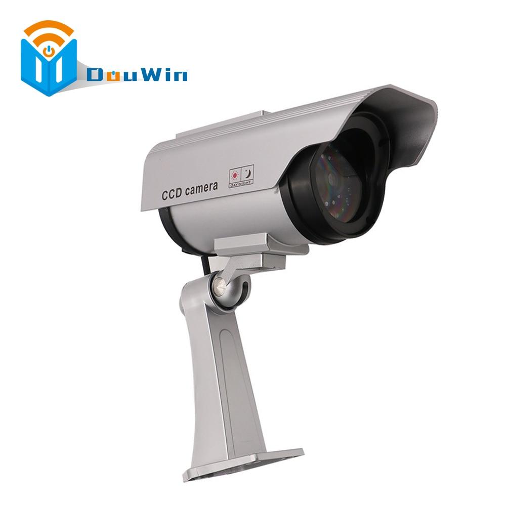 Solar Power Imitation High Simulation CCTV Camera Dummy Fake Camera Monitor Waterproof Outdoor Surveillance Camera Fake Camera
