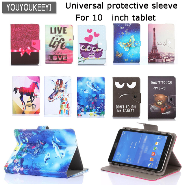 brand new 1c5d3 7a9f2 US $8.6 10% OFF|Universal stand Cover case For lenovo tab 4 10 10.1inch  Tablet Cartoon Printed PU Leather Case for tab4 10plus+3 gift-in Tablets &  ...