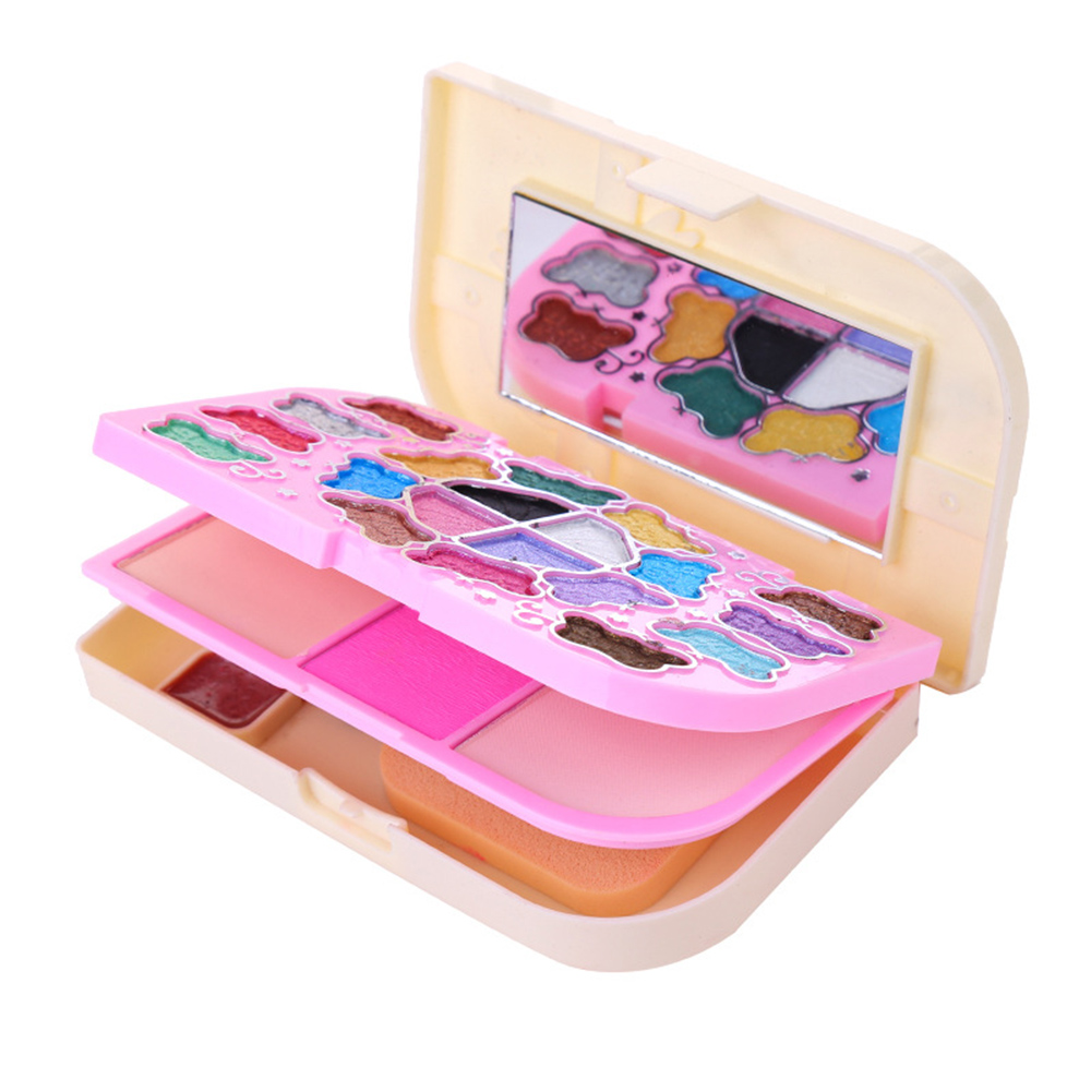 Cute Kids 20 colors Makeup Eye Shadow palette lip gloss ...