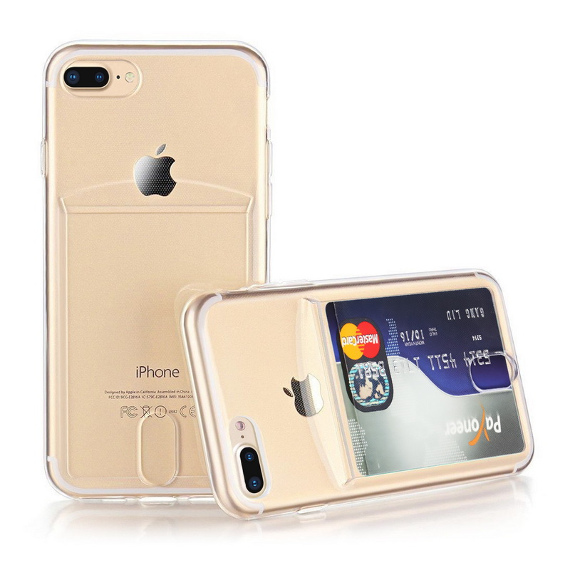 Transparent Soft TPU Card Holder Case for iPhone 11/11 Pro/11 Pro Max 31