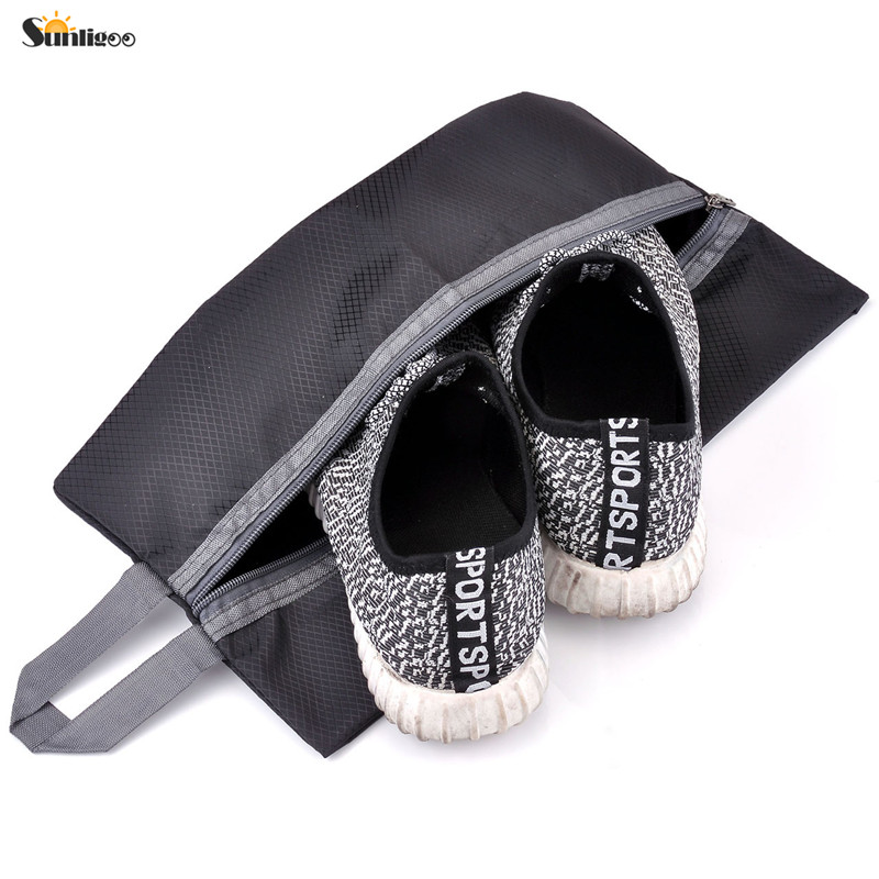 Sunligoo Portable Nylon Waterproof Shoe Bags Organizer Travel Shoe Storage Bag Pouch with Zipper Closure  (4 colors) Shoe Bags
