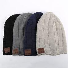 Зима Теплая Шапка Беспроводная Bluetooth-гарнитура Наушники Smart Крышка Динамик Микрофон Bluetooth Шляпы