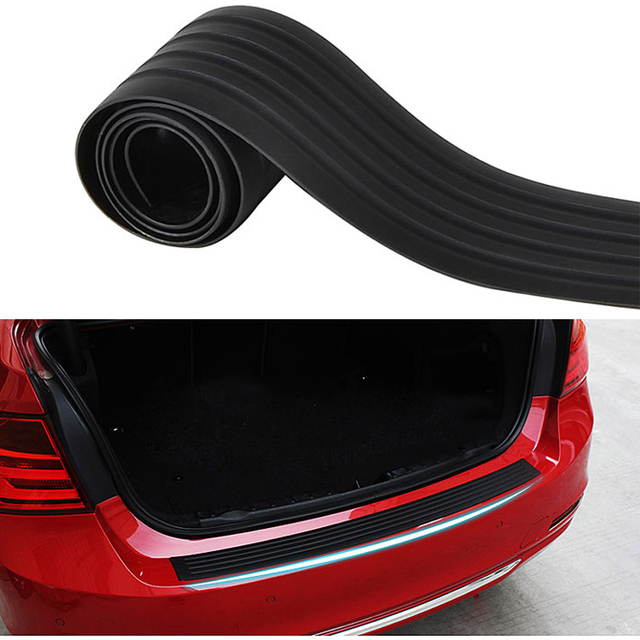 Bumper Guard For Suv >> Us 9 48 30 Off 90cm Car Trunk Door Sill Guard Suv Cargo Liner Body Rear Bumper Protector Trim Cover Protective Mat Strip Black On Aliexpress Com