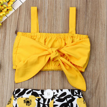 Baby Clothes Set Big Bow Tops Flower Skirt