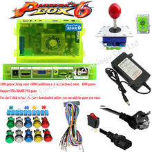 цена на Arcade DIY Kit 2 Players Arcade Stick Pandora's Box 6 1300 Games in 1 Kit Classic Bundle w/ Power Adapter, Arcade Buttons, Arcad