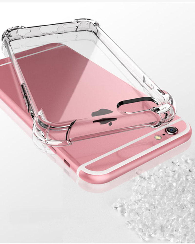 Soft Silicone Transparent Bumper Phone Case For iPhone SE 2020 X XS 6S 8 Plus Cover 6
