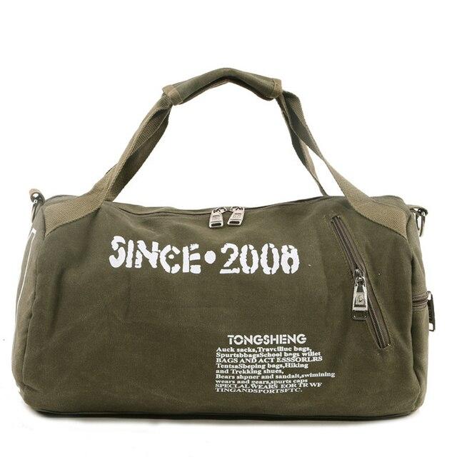Canvas Yoga Sport Bag Training Gym Men Woman Fitness Bags Durable Multifunction Handbag Outdoor Sporting
