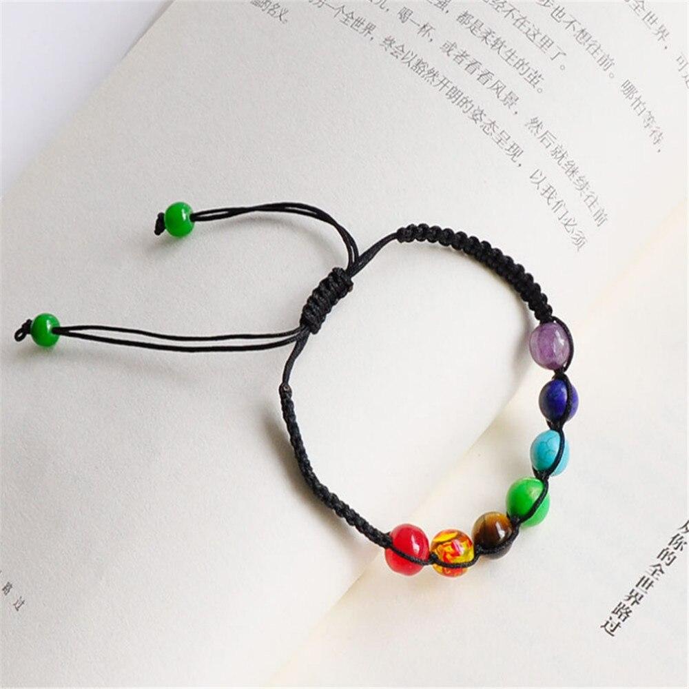 ECODAY Woven Rope Women Bracelet Natural Stone Healing Balance Beads Yoga Bracelets for Women Bracelet Homme Pulsera Bijoux in Charm Bracelets from Jewelry Accessories