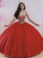 Sparkly Pageant Ball Gown Party Dress Puffy Shimmering Skirt Masquerade Quinceanera Dresses Red 2016 Vestidos De 15 Anos