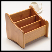 Remote Control Bamboo Desk Desktop   Storage   Holder Tray   Office  /  Home   Organizer Jewellery Stationery Holder Cajas