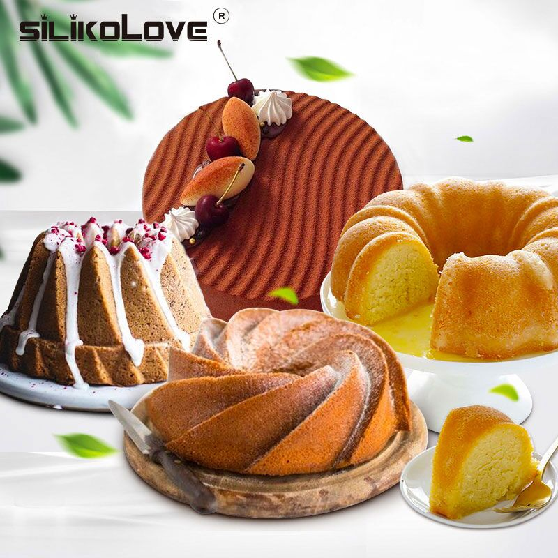 SILIKOLOVE Hot Cake Molds Silicone Molds for Baking Dishes Bread Pies Loaf Nonstick Silicone Mould Bakeware Trays Pans