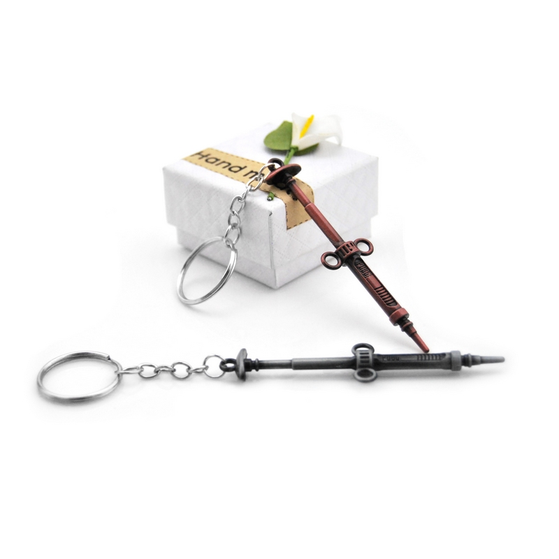 New Pop Creative Gun Custom PUBG Keychain Men Jedi sword Anime Key Chain Metal Car Game Key Ring Banner Holder Jewelry Gift in Key Chains from Jewelry Accessories