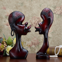Retro Europe Style African Couple Statue Resin Creative Home Decor Wedding Fashion Gifts Abstract Hotel Decoration