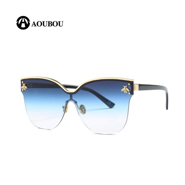 Grande Quadro Óculos De Sol Das Mulheres De Metal Embutidos Acessórios de  Tonalidade Cor Gradiente Aviador Oculos Brille Planga lunettes de Soleil  femmeR  ... caadf30b61
