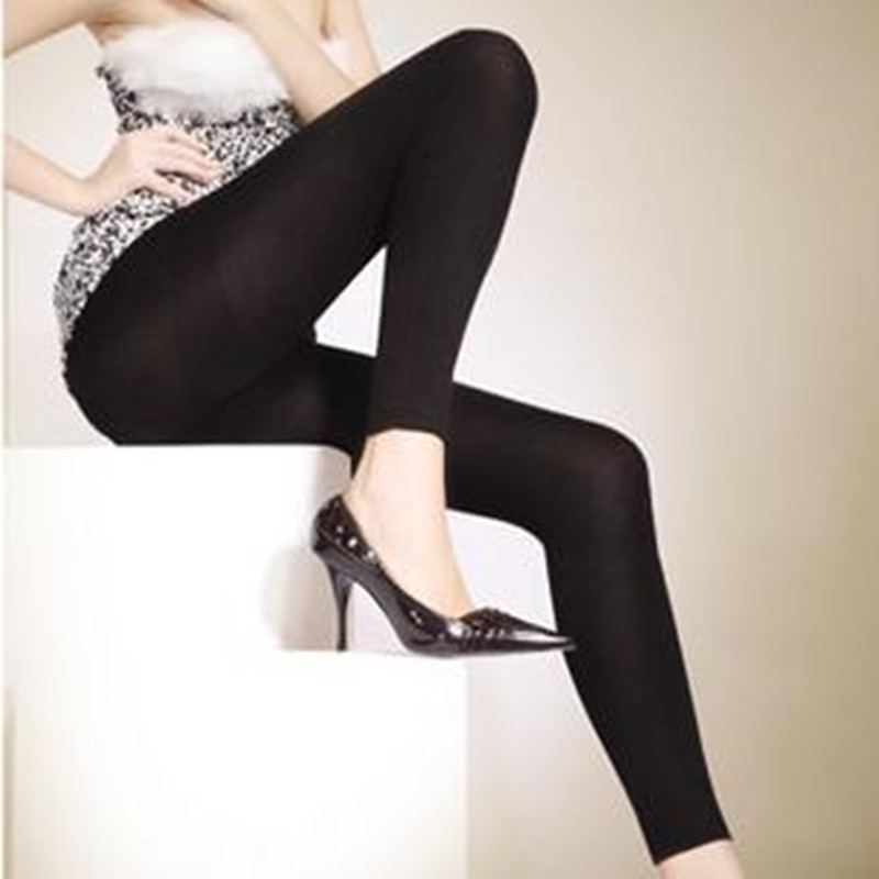 150D Femmes Microfibre Thermique Doublé Polaire Hiver Chaud Leggings Extensible Doublé Polaire Contrôle Top Fitness Leggings pour L'hiver