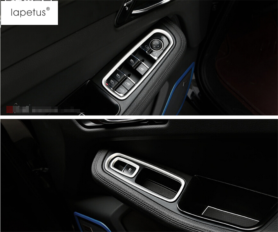 Accessories For Porsche Cayenne 2015 2016 2017 Inside Door Handle Panel Sticker Surround Window Lift Switch Cover Trim / 3 Color 2 color for choice interior for porsche panamera cayenne 2012 2015 dashboard instrument panel cover interior trim 5 pcs