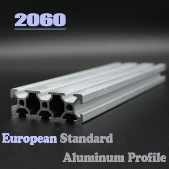 2060 European Standard Anodized Linear Rail Aluminum Profile Extrusion 2060 for DIY 3D printer CNC Corner Brackets cnc 3d printer parts 4pcs lot european standard anodized linear rail aluminum profile extrusion 3030 for diy 3d printer