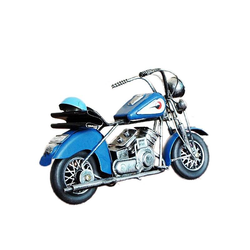 Vintage Retro Car Models Crafts Motorcycles Figurines Model Decoration Motorcycle Car Miniatures Office Desktop Home Decor Gifts