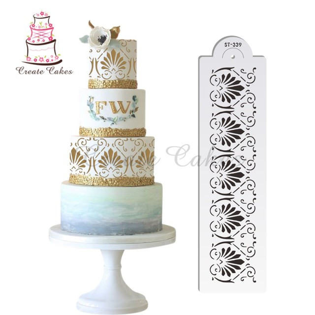 flower decoration stencil for wedding cake design plastic template