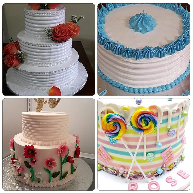 4Pcs/Set Cake Decorating Comb Cake Scraper Smoother Cream Decorating Pastry Icing Comb Fondant Spatulas Baking Pastry Tools 6