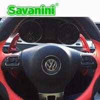 Savaini Aluminum Steering Wheel Shift Paddle Shifter Extension For Vw Golf 6 GTI Cc Tiguan Sagitar