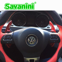 Savaini Aluminum Steering Wheel Shift Paddle Shifter Extension For Vw Golf 6 GTI Cc Tiguan Sagitar
